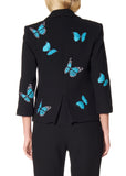 """MAGICAL BLUE BUTTERFLIES"" BLAZER - Women's Jackets & Coats - Libertine"