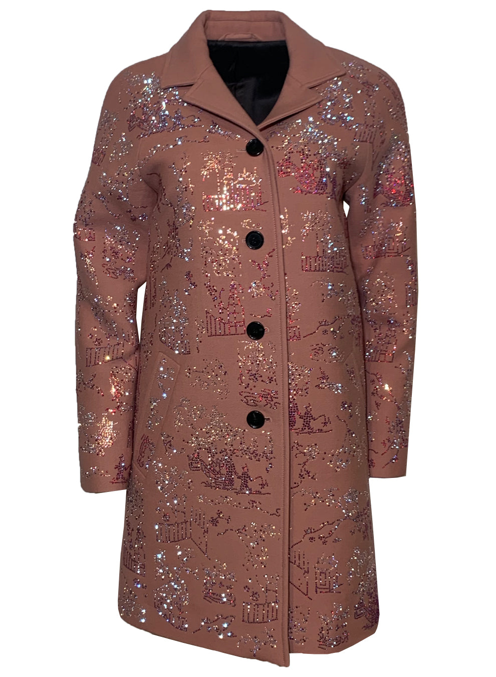 PINK 'CHINOISERIE' VINTAGE COAT - One of a Kinds - Libertine