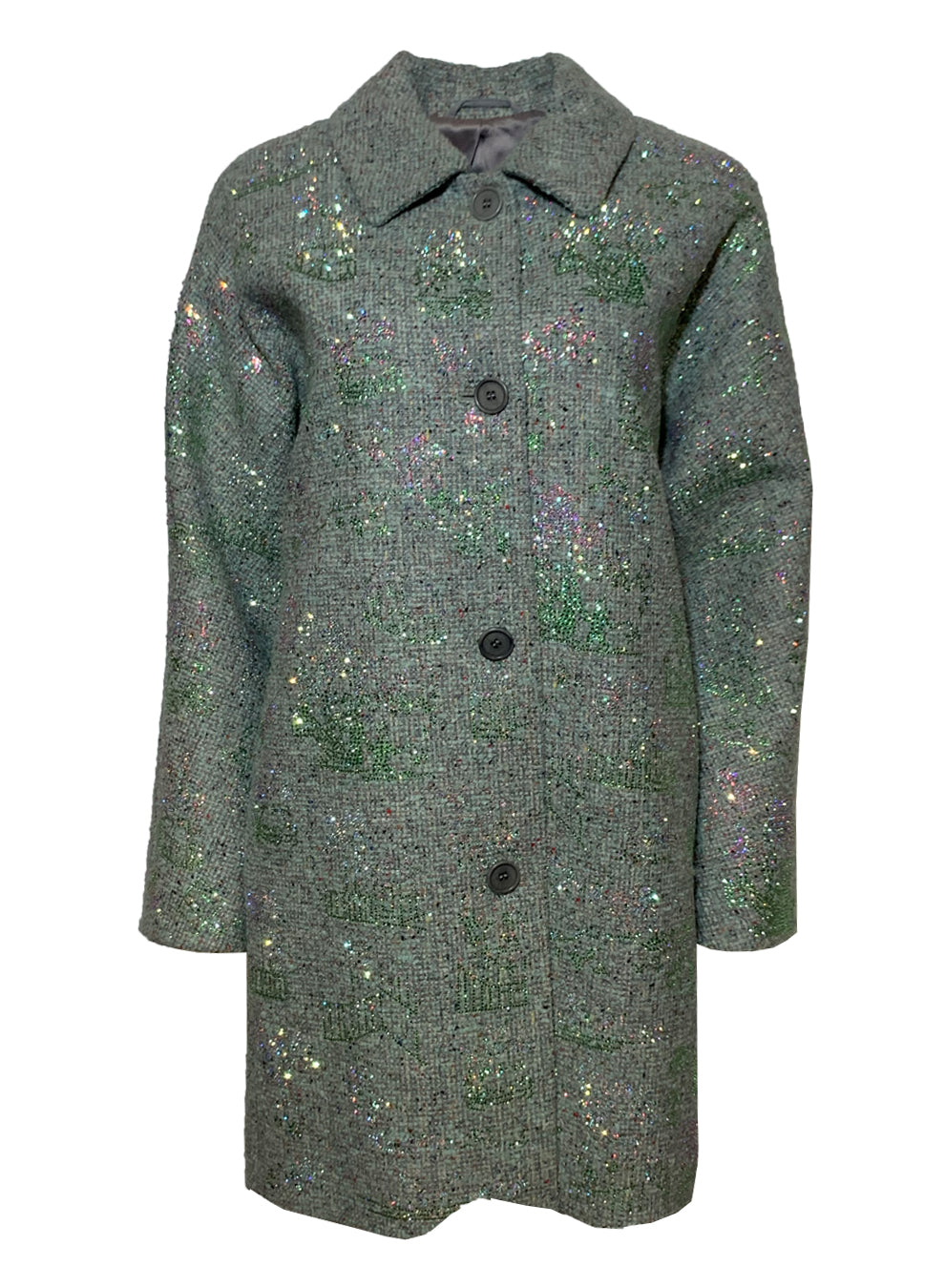 GREEN 'CHINOISERIE' VINTAGE COAT - One of a Kinds - Libertine