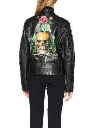 HAND PAINTED LEATHER JACKET - Web Exclusives - Libertine