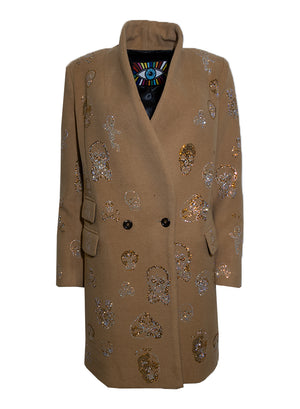 BE TRUE TO YOUR SKULL VINTAGE COAT - Women's Jackets & Coats - Libertine