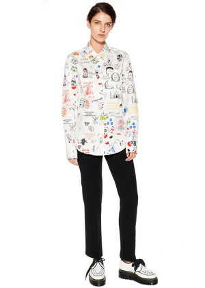 """Marlene's Graffiti"" Classic Shirt - Women's Tops - Libertine"