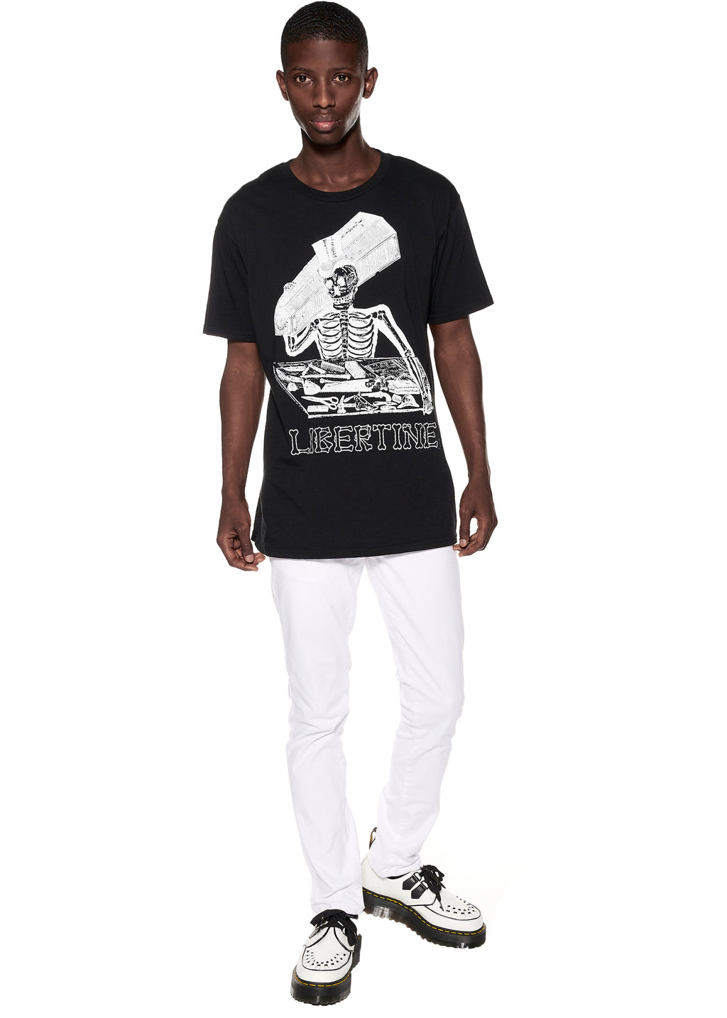 """LIBERTINE SKELETON"" T-SHIRT - Men's Tops - Libertine"