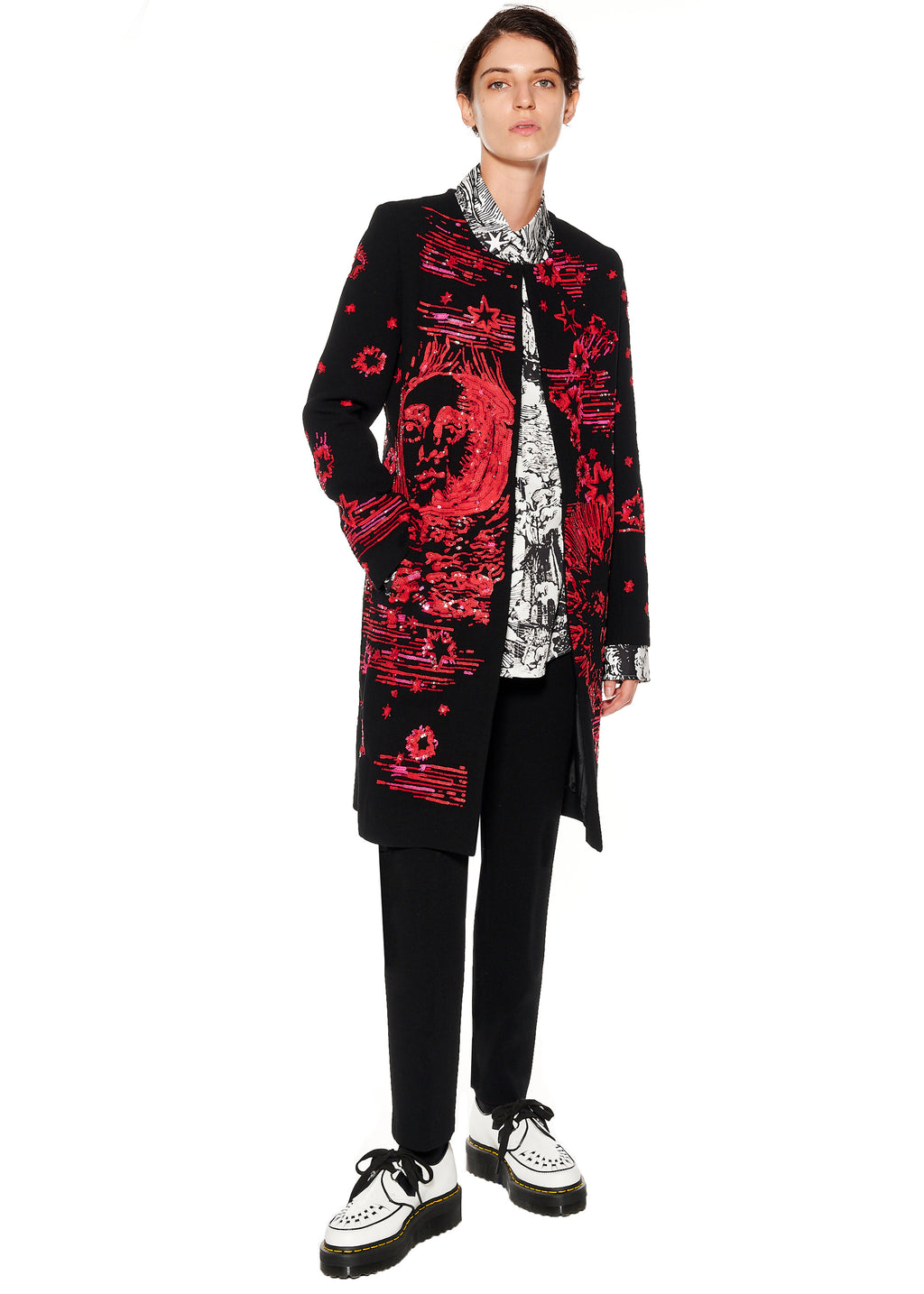 "PAILLETTE ""MODERN TOILE"" DUSTER COAT - Women's Jackets & Coats - Libertine"