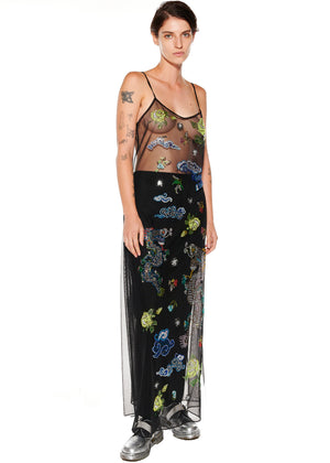 """Magical Ming Dragon"" Tulle Slip Dress - Women's Dresses - Libertine"