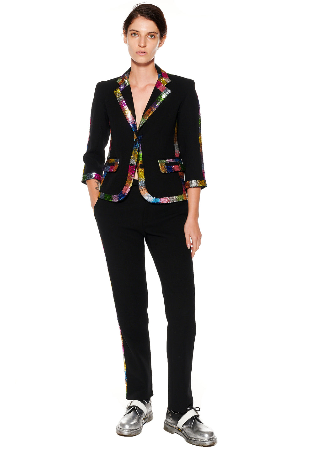 """ELECTRIC DREAMS"" PAILLETTE BLAZER - Women's Jackets & Coats - Libertine"