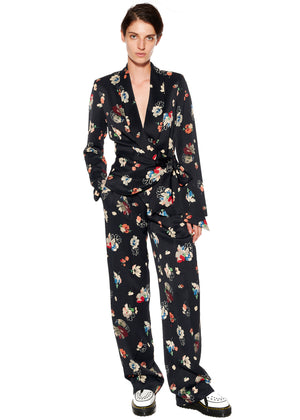 """Nina Simone"" Floral Pleated Pants - Women's Bottoms - Libertine"