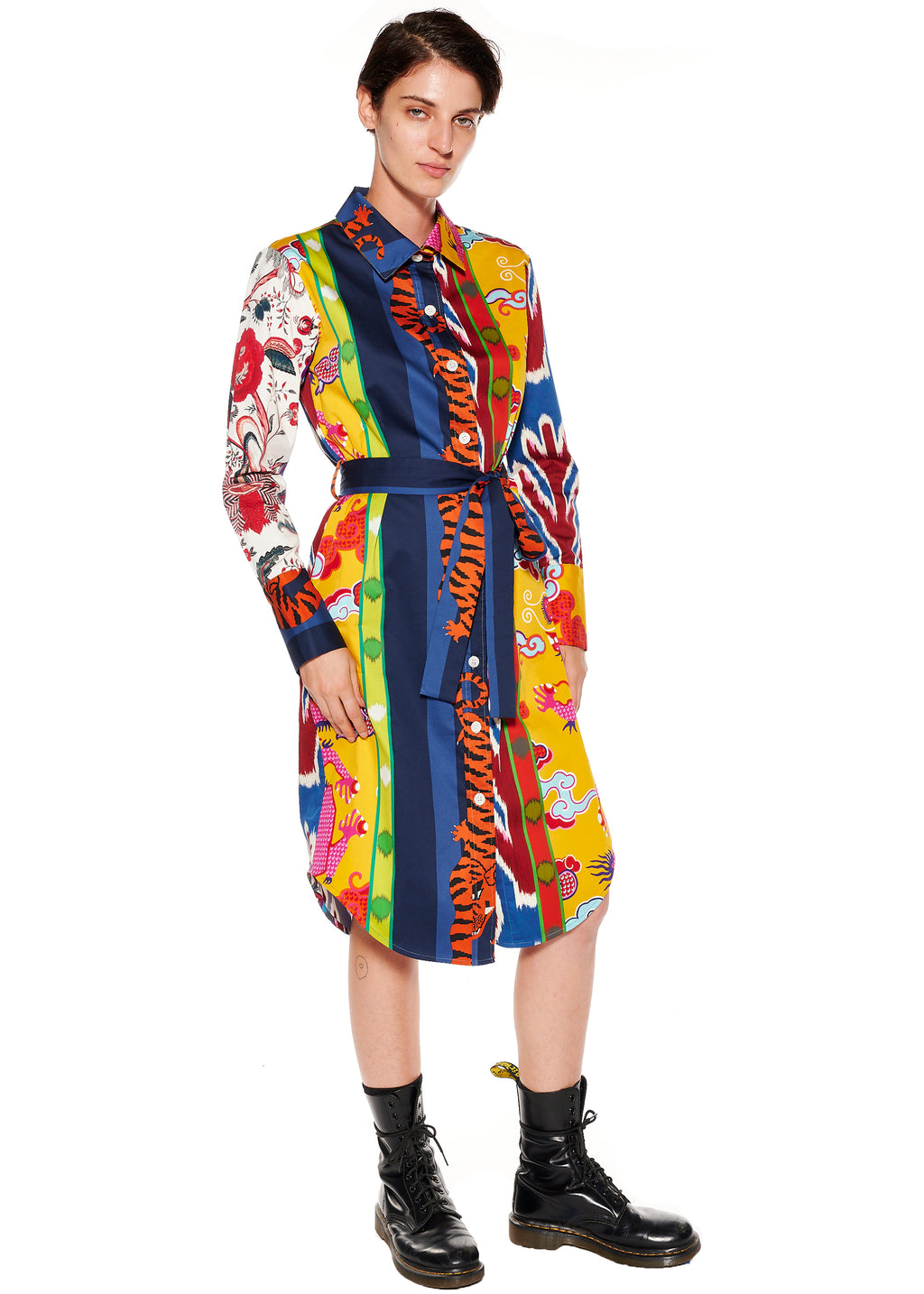 'Prince of Chintz' Long Shirt Dress - Women's Dresses - Libertine