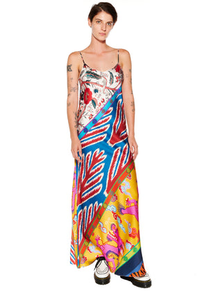 """Prince of Chintz"" Long Slip Dress - Women's Dresses - Libertine"