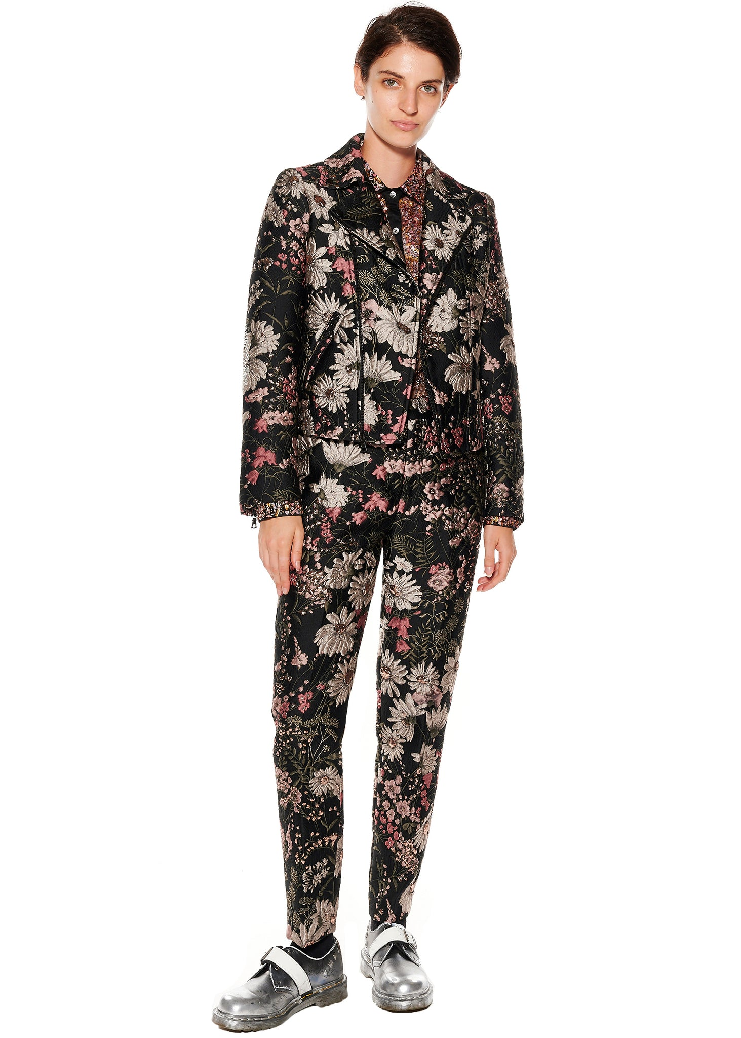 ''Dark Garden'' Narrow Pants - Women's Bottoms - Libertine