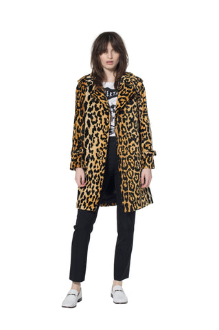 """VELVET LEOPARDO"" TRENCHCOAT - Women's Jackets & Coats - Libertine"