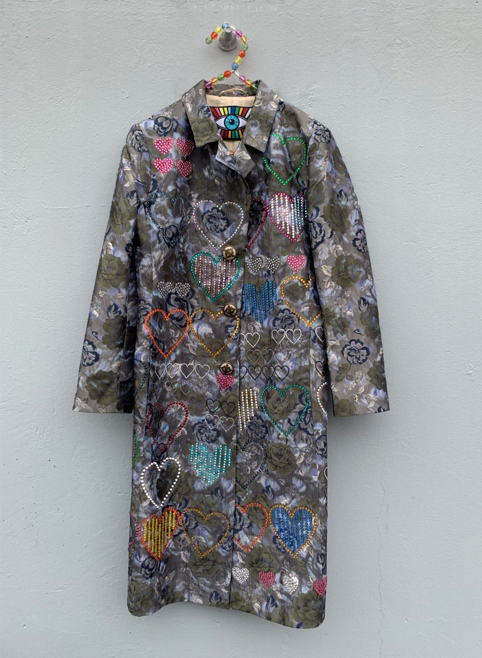 HEARTS VINTAGE FLORAL COAT - COATS - Libertine
