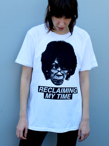 """RECLAIMING MY TIME"" MAXINE WATERS TEE - T-Shirts - Libertine"