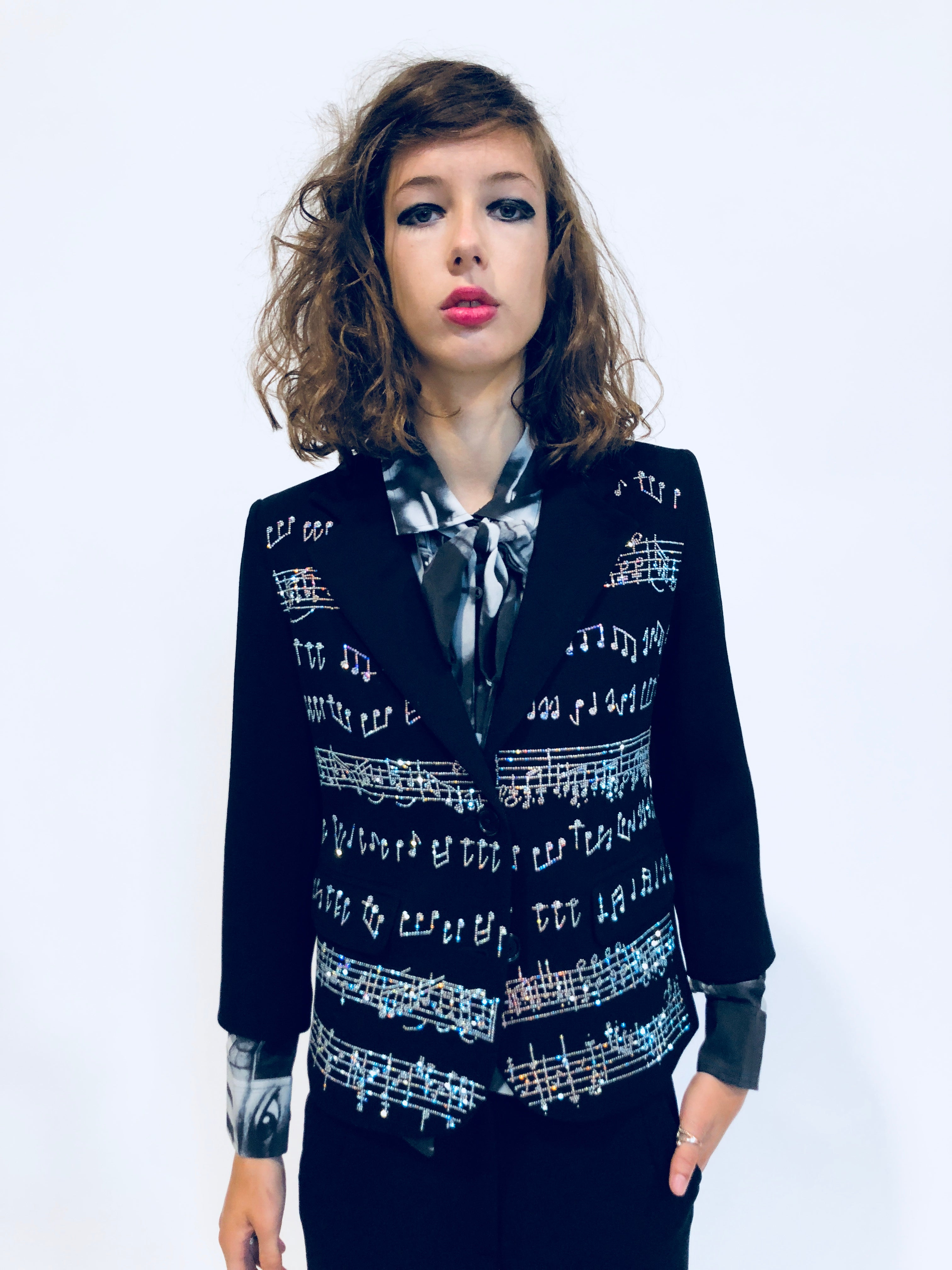 MUSIC NOTES BLAZER - Women's Jackets & Coats - Libertine