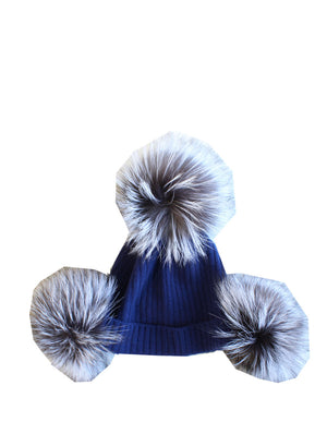 BLUE POM POM BEANIE - Web Exclusives - Libertine