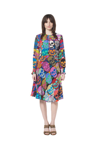 """OG SKULLS"" KEYHOLE DRESS - Women's Dresses - Libertine"