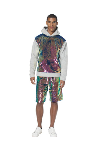 """ROSSINI RHAPSODY"" PAILLETTE HOODIE - Men's Tops - Libertine"