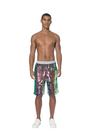 """ROSSINI RHAPSODY"" PAILLETTE SWEAT SHORTS - Men's Bottom's - Libertine"