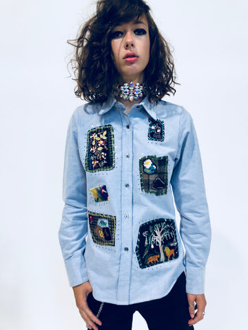 """YOUR FAVORITE GRANNY'S PATCHWORK"" CLASSIC SHIRT - Unisex Classic Shirts - Libertine"