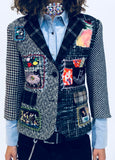 """YOUR FAVORITE GRANNY'S PATCHWORK"" TWEED BLAZER - Women's Jackets & Coats - Libertine"
