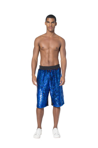 """POWER BALLER"" PAILLETTE SWEAT SHORTS - Men's Bottom's - Libertine"