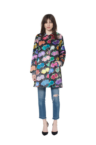 """PUNK ROCK FLOWERS"" COAT - Women's Jackets & Coats - Libertine"