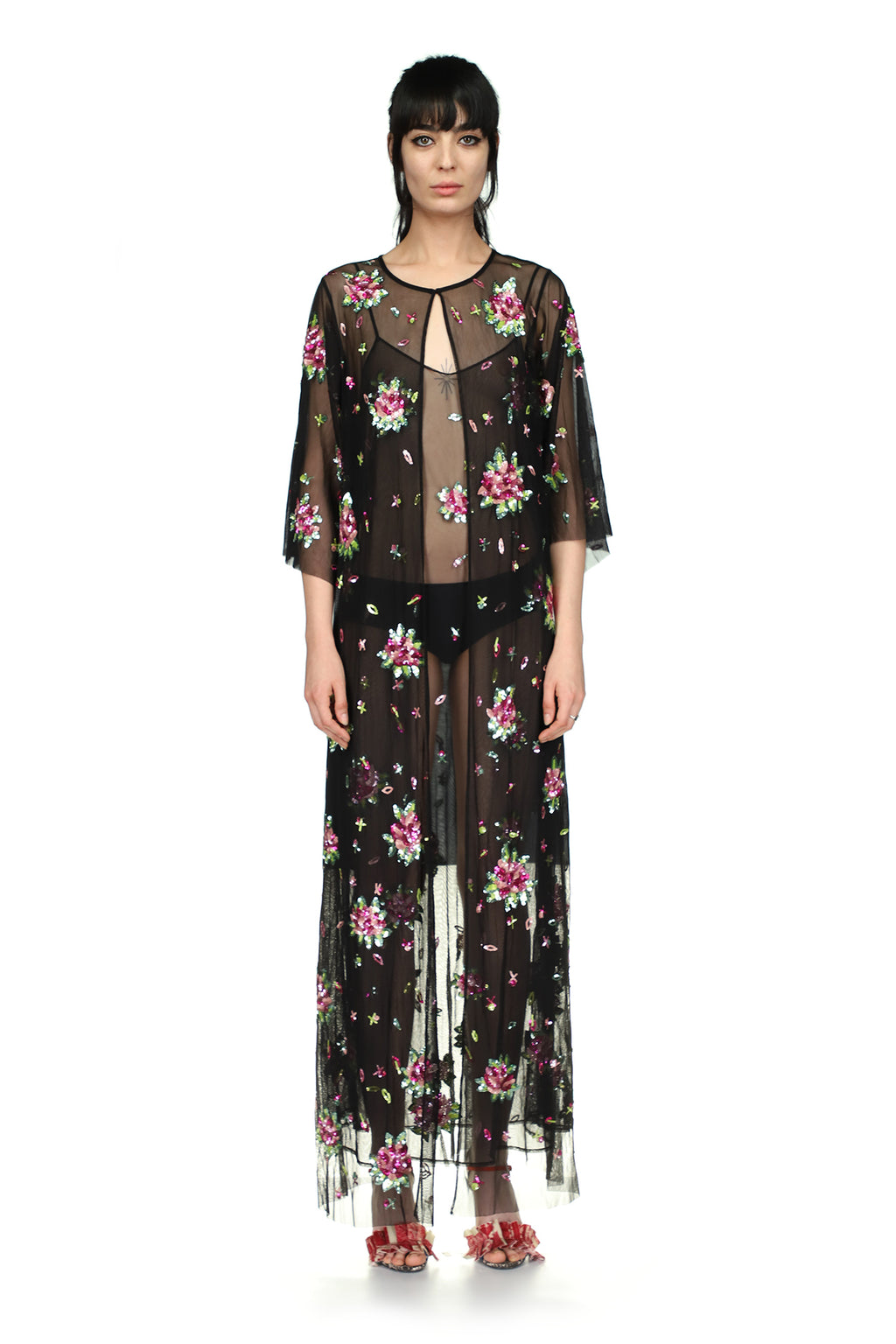 Tulle Floral Floor Length Robe - Spring 2021 - Libertine