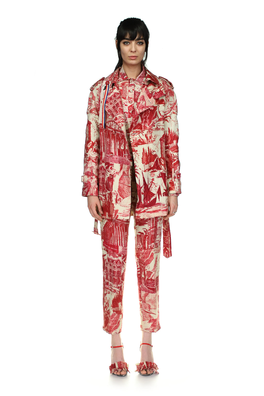'Toile De Nantes' Short Trench Coat - Spring 2021 - Libertine