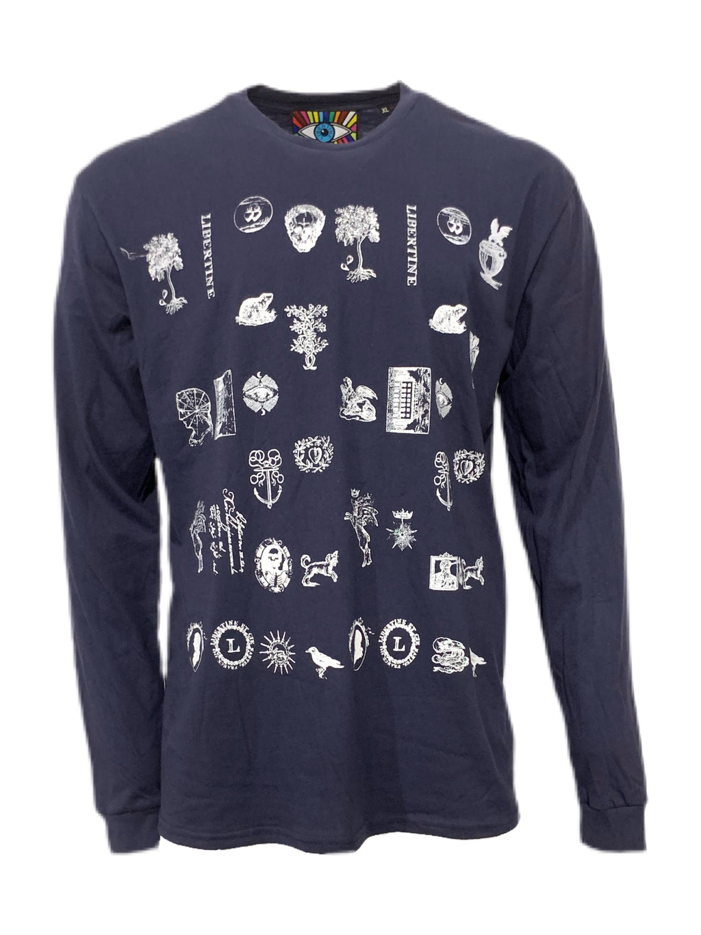 Libertine Stamps Long Sleeve Navy T-Shirt - Spring 2021 - Libertine