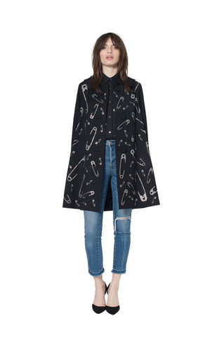 """LONDON ROCKERS SAFETY PINS"" COAT - Women's Jackets & Coats - Libertine"
