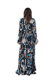 """SPACE WRITING"" WRAP DRESS - Women's Dresses - Libertine"