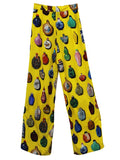 SNUFF BOTTLES WIDE LEG PANTS WITH CRYSTALS