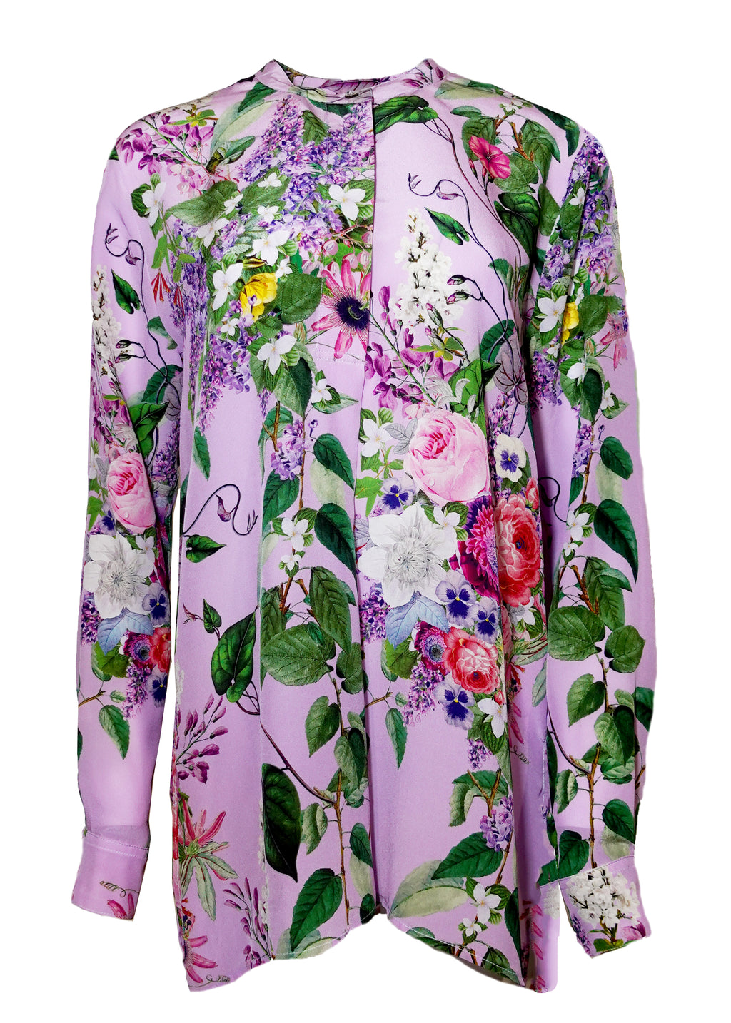 ''HAMISH FLORAL'' COLLARLESS BLOUSE - Women's Tops - Libertine