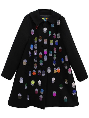 DOTS PETER PAN COLLAR COAT - Women's Jackets & Coats - Libertine