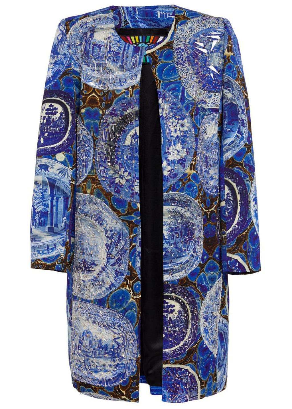 SHATTERED PLATES AND PLATTERS DUSTER COAT - Women's Jackets & Coats - Libertine