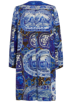SHATTERED ''PLATES AND PLATTERS'' DUSTER COAT - Women's Jackets & Coats - Libertine