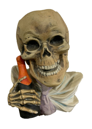 19TH CENTURY SKELETON HOLDING CHAMPAGNE VASE BY E. BOHNE - Accessories - Libertine