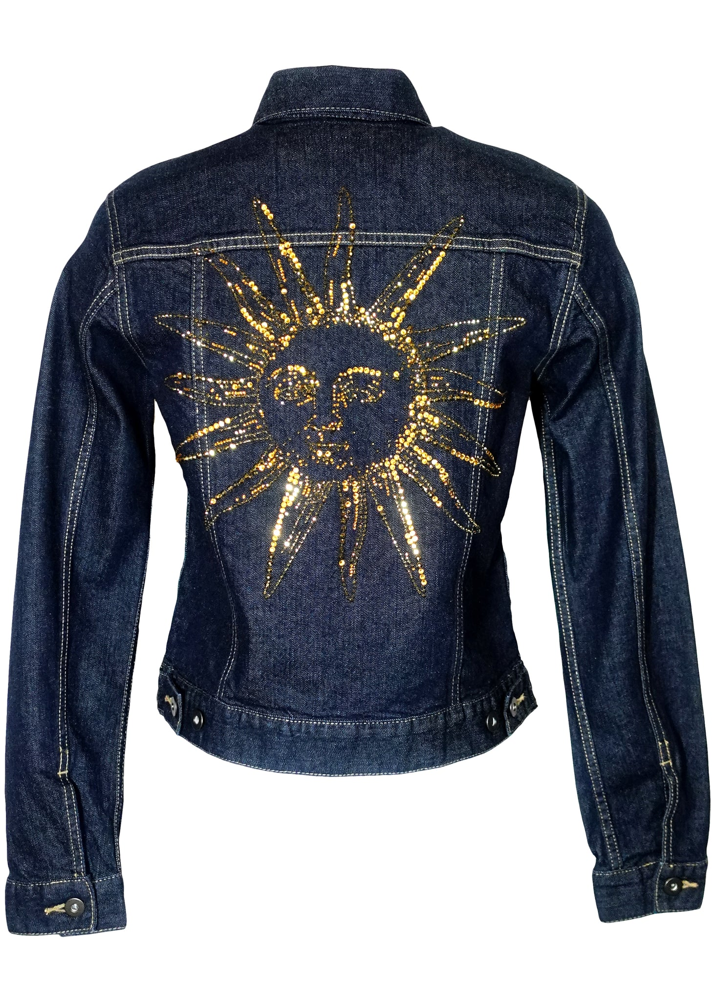 SUN AND MOON DENIM JACKET - Women's Jackets & Coats - Libertine