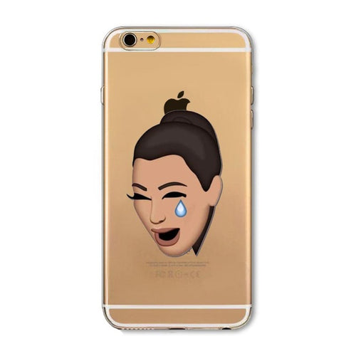 Kim Crying Emoji iPhone Case