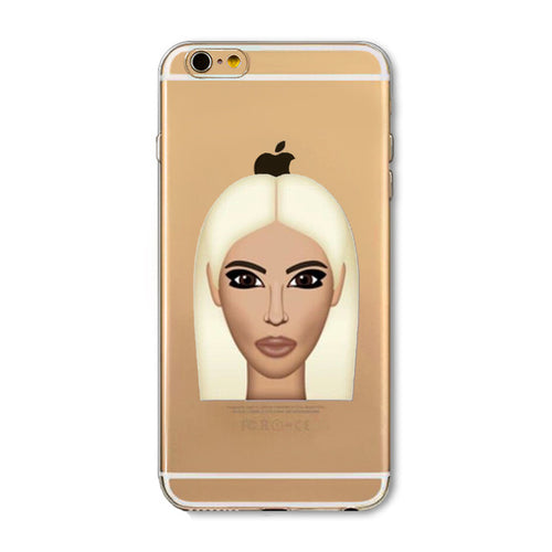 Blonde Kim Emoji iPhone Case