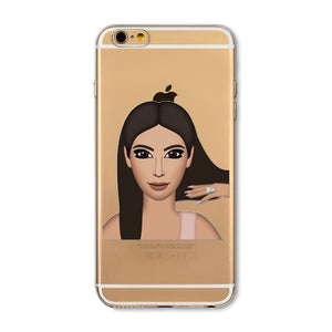 Hair Flip Kim Emoji iPhone Case