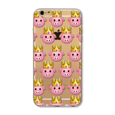 Princess Pig Emoji iPhone Case