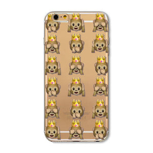 Princess Monkey Emoji iPhone Case