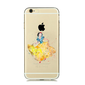 Snow White WaterColor Cartoon iPhone Case