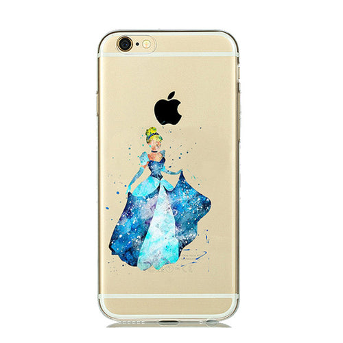 Cinderella WaterColor Cartoon iPhone Case