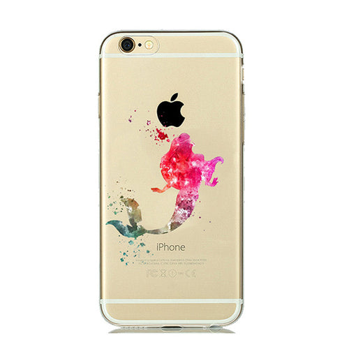Pink Ariel WaterColor Cartoon iPhone Case