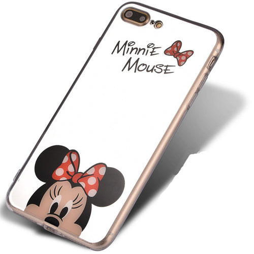 Red Minnie Cartoon Mirror iPhone Case
