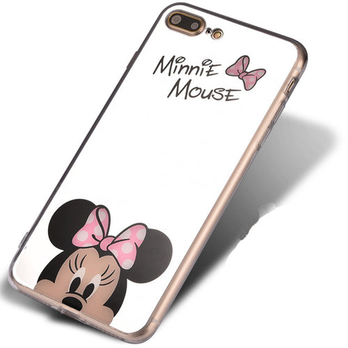 Pink Minnie Cartoon Mirror iPhone Case