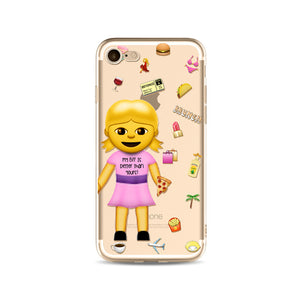 """My BFF is Better than Yours"" Emoji iPhone Case"