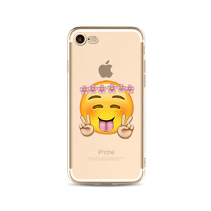 Peace Emoji iPhone Case